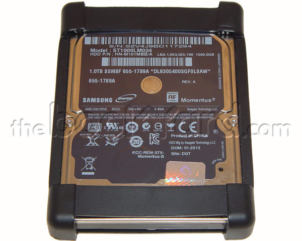 "Apple HGST 1TB 2.5"" 5,400rpm SATA Hard Drive w/Rubber Frame"