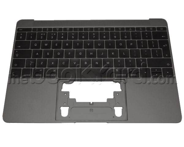 "MacBook Retina 12"" Top Case & UK Keyboard - Space Grey (16)"