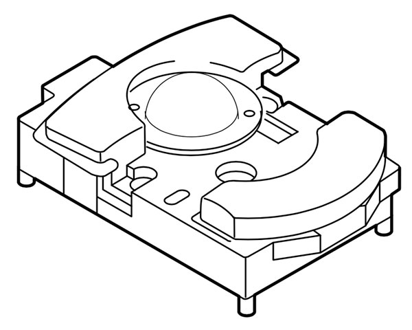 PowerBook 1XX series trackball assembly