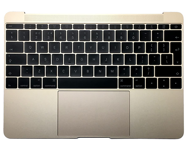 "MacBook Retina 12"" Top case & Italian Keyboard - Gold (16)"