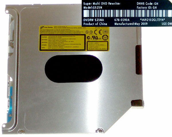 HL GS31N SATA super-slim superdrive, Apple