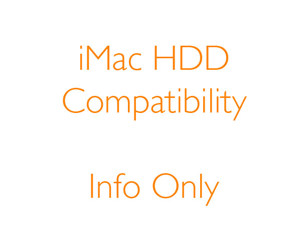 Apple 27-inch iMac Hard Drive/SSD Compatibility 2012->