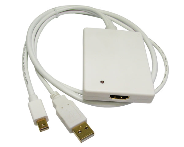 Mini DisplayPort/USB 2.0 Stereo to HDMI Adapter