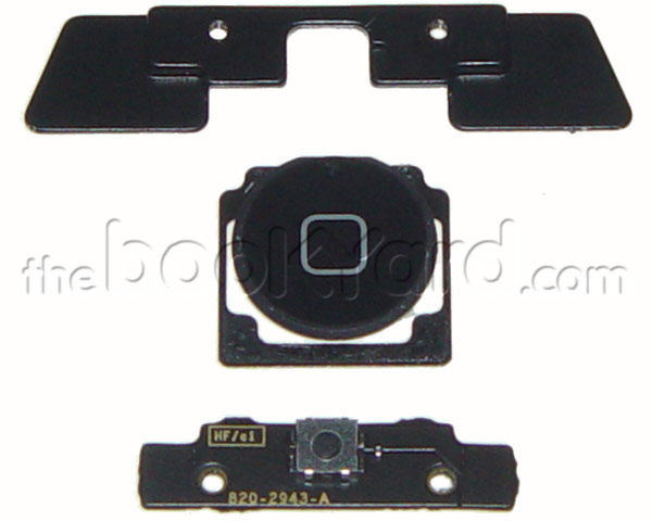 iPad 2 Home Button, board and mount kit - Black