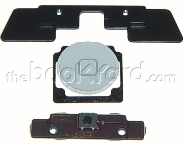 iPad 2 Home Button, board and mount kit - White