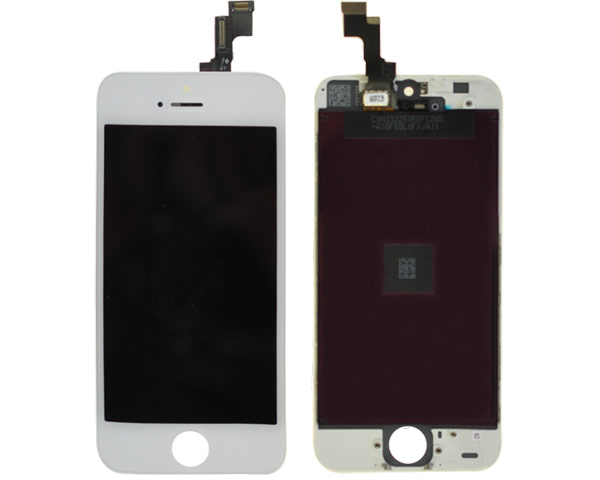 iPhone 5S LCD & Digitizer Full Frame Assembly - Silver
