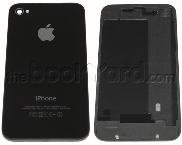 iPhone 4 Back Glass Cover - Black - 3rd Party Replacement