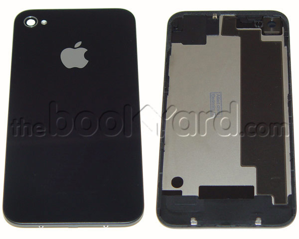 iPhone 4 Back Glass Cover - Black - 3rd Party (No Text)