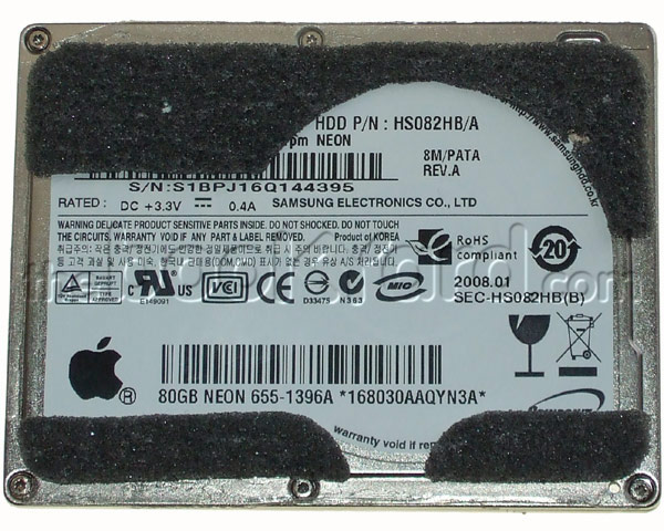 "MacBook Air 13"" ATA Hard Drive - 80GB (ZIF) (SM) (E08)"