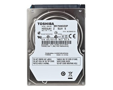 "Apple Toshiba 750GB 2.5"" 5,400rpm SATA Internal Hard Drive"