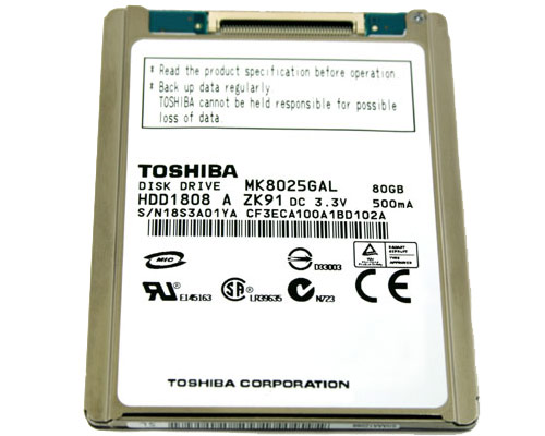 "MacBook Air 13"" ATA Hard Drive - 80GB (ZIF) (TS) (E08)"