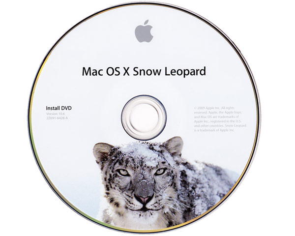 Mac OS X 10.6 - Snow Leopard Retail Installation DVD