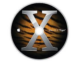 MacOS X 10.4 PowerBook G4 disk set (2 disks)