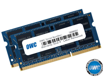OWC MacBook Pro/iMac 204pin PC3-12800 DDR3 16GB Upgrade Kit