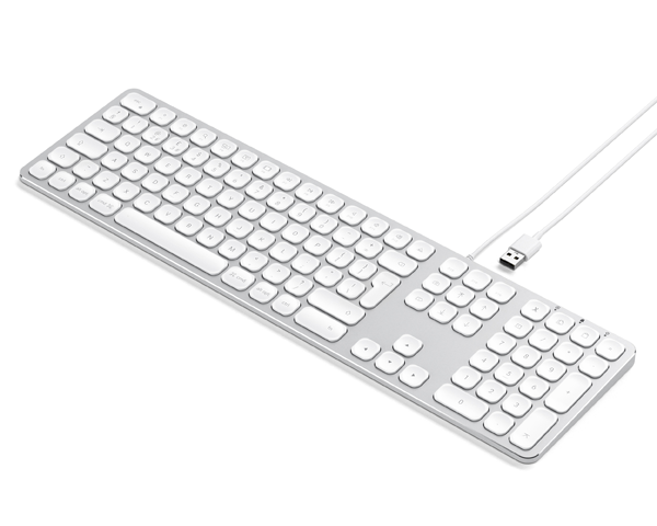 Satechi Aluminium Keyboard, USB Extended UK - Silver