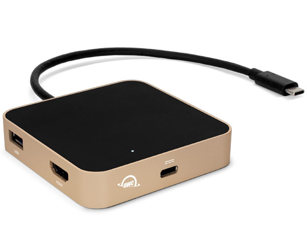 OWC USB-C Travel Dock - Gold - (60W Pass Through)