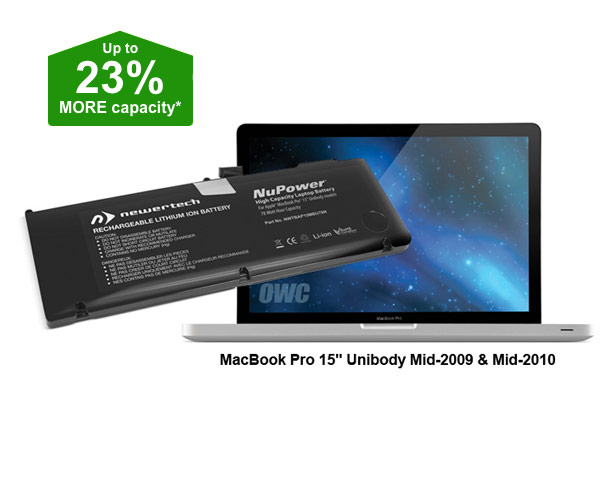 "Newertech Unibody Macbook Pro 15"" Battery, 78Wh (09/10)"