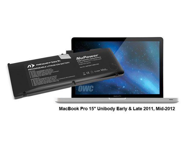 "Newertech Unibody Macbook Pro 15"" Battery, 78Wh (11/12)"
