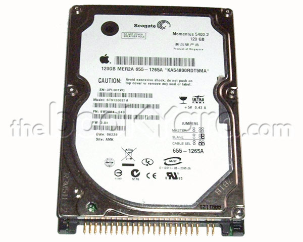 Apple branded 80GB ATA notebook hard drive, Seagate