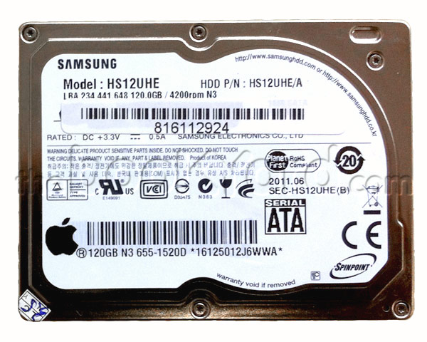 Macbook Air Hard Drive - Samsung 120GB SATA LIF (Apple)