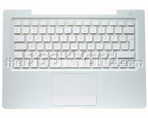 MacBook Top Case, Keyboard, Swedish (Silver Cable) White