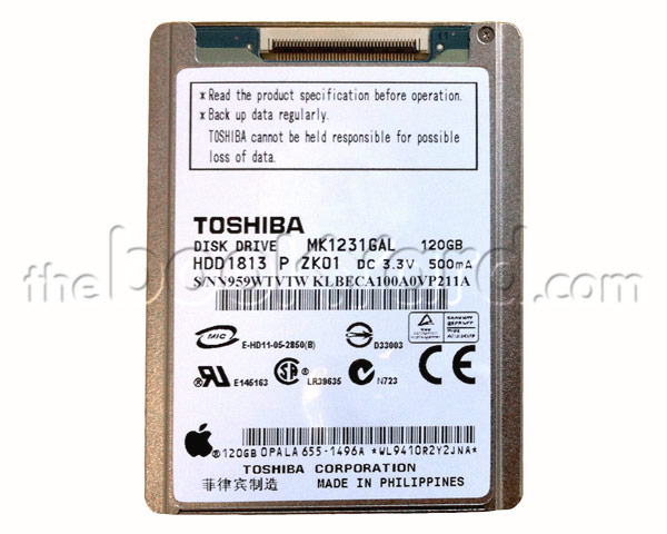 "MacBook Air 13"" ATA Hard Drive - 120GB (ZIF) (TS) (E08)"