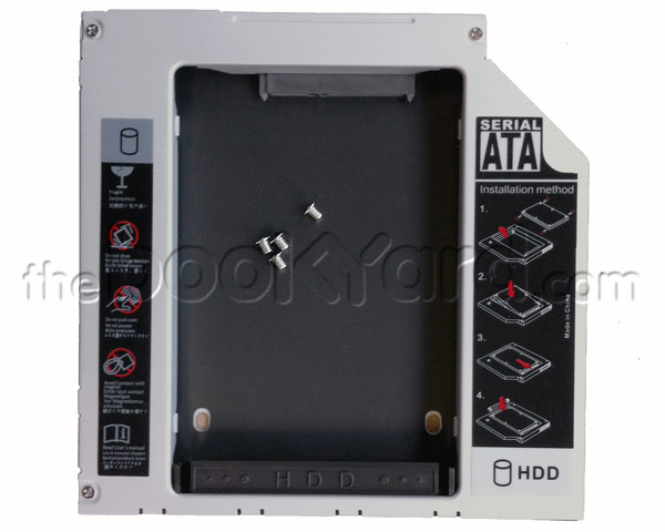 Optical to hard drive/SSD caddy, SATA to SATA, 12.7mm