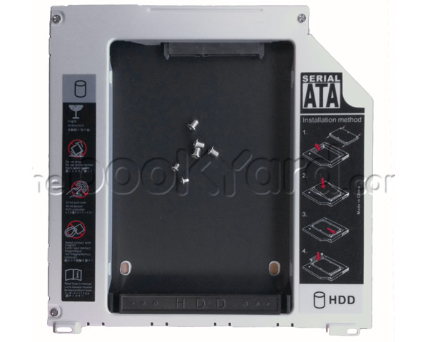 Optical to hard drive/SSD caddy, SATA to SATA, 9.5mm Uni