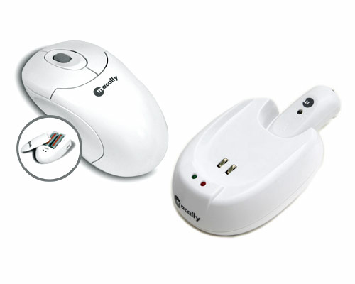 MacAlly Mouse wireless mouse with charge station