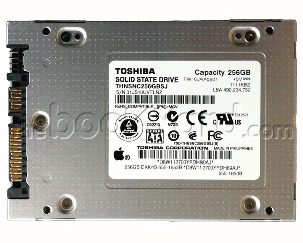 "Apple Original Toshiba SSD 512GB 2.5"" SATA"