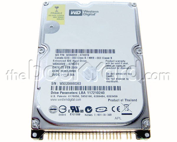Western Digital 120GB 5,400rpm ATA notebook hard drive
